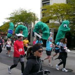 The Chicago Marathon includes runners of every description...